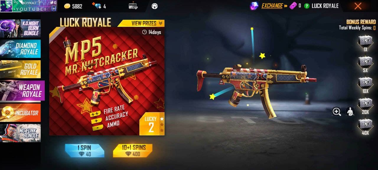 Weapon Royale in Free Fire